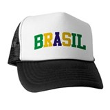 Brasil Green Yellow Blue Trucker Hat