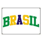 Brasil Green Yellow Blue Banner