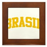 Brasil Yellow Framed Tile