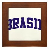 Brazil Blue Framed Tile