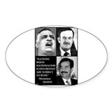 Arab Nationalism Print Oval Decal