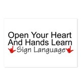 Open Your Heart And Hands Lea Postcards (Package o