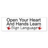 Open Your Heart And Hands Lea Bumper Bumper Stickers