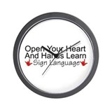Open Your Heart And Hands Lea Wall Clock