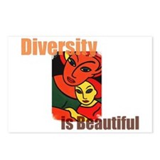 Diversity is Beautiful (2) Postcards (Package of 8