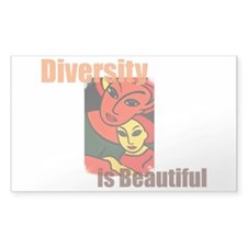 Diversity is Beautiful (2) Rectangle Decal