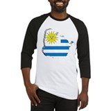 3D Map Of Uruguay Baseball Jersey