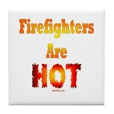 Hot Firefighters Tile Coaster
