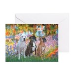 Garden / 3 Boxers Greeting Cards (Pk of 10)