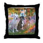Garden / 3 Boxers Throw Pillow