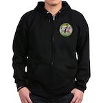 Garden / 3 Boxers Zip Hoodie (dark)