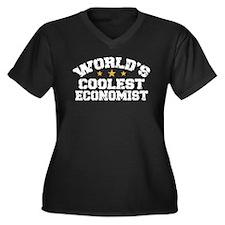 World's Coolest Economist Women's Plus Size V-Neck