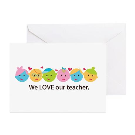 Love Our Teacher Cards
