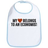 My Heart Belongs To An Economist Bib