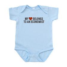 My Heart Belongs To An Economist Infant Bodysuit