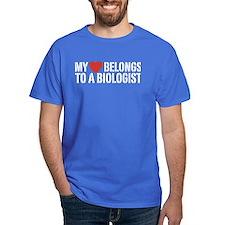My Heart Belongs To A Biologist T-Shirt