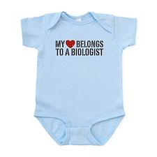 My Heart Belongs To A Biologist Infant Bodysuit