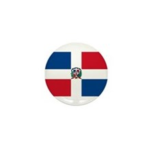 Dominican Flag Mini Button (100 pack)