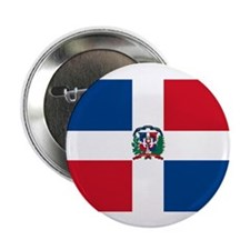 "Dominican Flag 2.25"" Button (10 pack)"