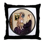 WMom - Boxer (D) Throw Pillow