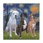 Starry / 3 Boxers Tile Coaster
