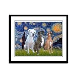 Starry / 3 Boxers Framed Panel Print