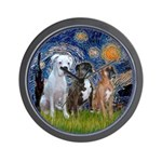 Starry / 3 Boxers Wall Clock