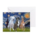 Starry / 3 Boxers Greeting Card