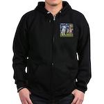 Starry / 3 Boxers Zip Hoodie (dark)