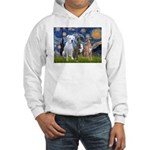 Starry / 3 Boxers Hooded Sweatshirt