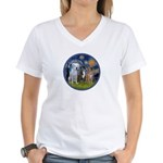 Starry / 3 Boxers Women's V-Neck T-Shirt