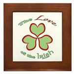 Love of the Irish Framed Tile
