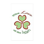 Love of the Irish Sticker (Rectangle 50 pk)