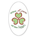 Love of the Irish Sticker (Oval 50 pk)