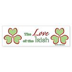 Love of the Irish Sticker (Bumper 50 pk)