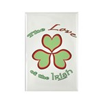 Love of the Irish Rectangle Magnet (10 pack)