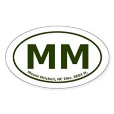 Mount Mitchell, NC Euro Decal