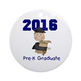 2013 Boy Pre-K Graduate Ornament (Round)