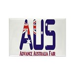 AUS Australia Rectangle Magnet