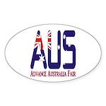 AUS Australia Oval Sticker