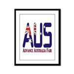 AUS Australia Framed Panel Print