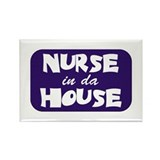 Nurse In Da House Rectangle Magnet (10 pack)