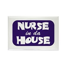 Nurse In Da House Rectangle Magnet