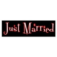 Goth Rocker Just Married Bumper Bumper Sticker