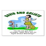 Global Warming Rectangle Sticker