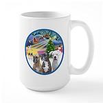 Xmas Magic / 3 Boxers Large Mug