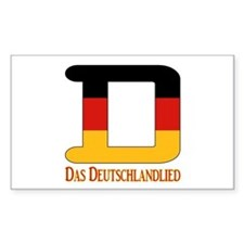 D Germany Rectangle Decal