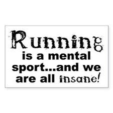 Running is a Mental Sport Stickers