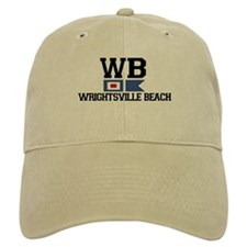 Wrightsville Beach NC - Nautical Flags Design Baseball Cap