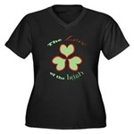 Love of the Irish Women's Plus Size V-Neck Dark T-